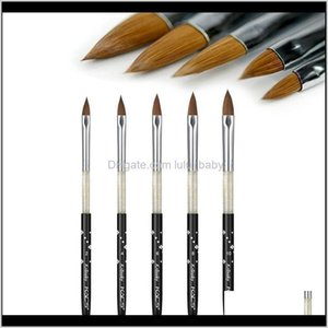 Acrylic Brush Diy Crystal Painting Ding Carving Pen Uv Gel Manicure Tool Set Kolinsky Sable Nail Design Brushes P5Tnl Pon1C