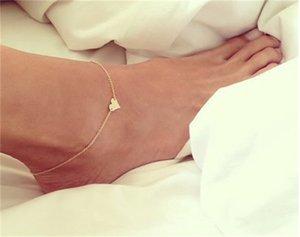 Девушка мода простого сердца браслета цепь пляжный фут ноги сандалии ювелирные изделия C00021 Smad 518 T2