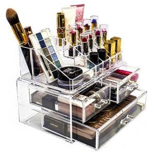 Makeup Organizer Box Make Up Jewelery Cosmetic Lipstick Boxes Storage Nail Polish Beauty Case Holder Stand Vanity & Bins