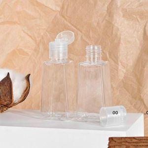 30ML Empty Hand Sanitizer PET Plastic Bottles With Flip Cap Trapezoid Shape Bottle For Makeup Remover Disinfectant Liquid Sample FWE9692
