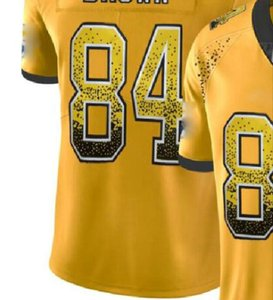 Professional Custom Jerseys NY 8 13 26 NYJ 14 OAK 4 28 34 84 PHI 9 10 11 PIT 19 30 84 90 Shirts Men Carbon Black Retro Flag Jersey a6