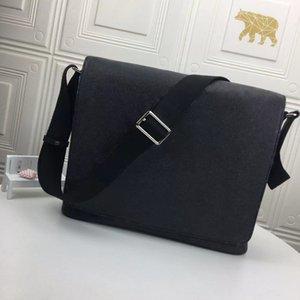 Классический роскошный дизайнер сумка сумка для мужчин Район Сумки на ремне натуральные кожаные сумки сумки Сцепления Tote Messenger Шоппинг кошельки двух размеров