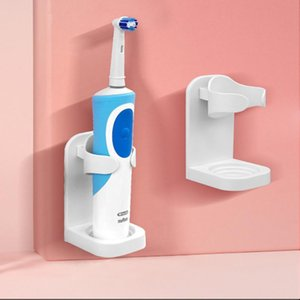Creative seamless bathroom electric toothbrush wall mount bracket space saving storage rack accessories