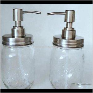 480Ml Mason Clear Glass Jar With Rust Proof Stainless Steel Pump Liquid Soap Dispenser Kka8291 Xzidp Ltfoh