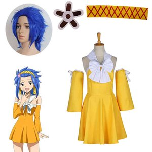 Fairy Tail Shadow Gear Levy McGarden Summer Dress Anime Cosplay Costume