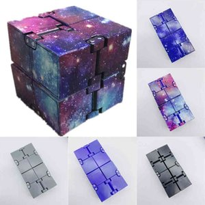 Box Packing Fidget Infinite Cubes Starry Infiniti Cube Magic Infinity Flip Puzzle Toys Anxiety Reliever Sensory Educational Game Autism Anxiety Stress H41FUWB