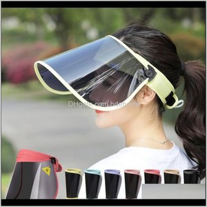 Masks Protective Gear Sports & Outdoors Drop Delivery 2021 Anti-Fog Empty Top Cap Clear Full Face-Mask Polarized Sun Visor Hats For Women Out