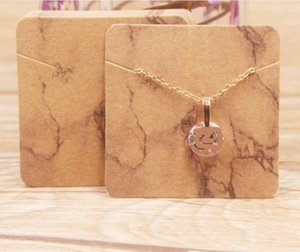 2021 Exquisite Necklace card square 5 * 5cm 300g paper cards printing various patterns choose jewelry 5*5cm 006