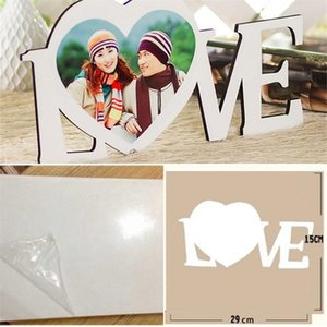 Wooden Picture Board Sublimation Blank Paintings LOVE Heart HDF Ornament Support Book Case Wear Resistance 10 93xm L2 0HPP