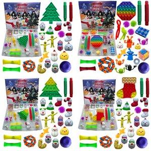 24pcs Set Christmas Fidget Toy Xmas Countdown Calendar Blind Boxes Sensory Pack Advent Calendar Christmas Box ZZA3432