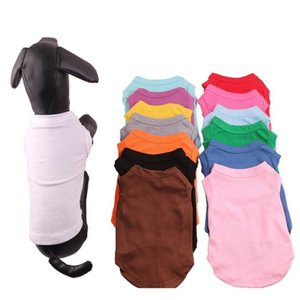 Supplies Home & Garden Drop Delivery 2021 Apparel Multi Colors 4 Size Pet Summer Solid T Classic Puppy Small Dog Cotton Shirts Clothes Dh0284
