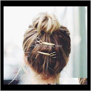 Pins Clip 1 Шт. Детские Ножницы Ножницы Форма Бобби Pin Элегантные Женщины Акриловые Взрослые Модные Когти для волос Сплошные CUZMK DYN3S