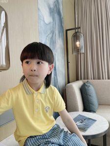 2021 Summer Boys Short Sleeve Polo Shirt 2-12y Children Lapel Solid Color Clothes Kids Cotton School Uniform Shirts Outwear