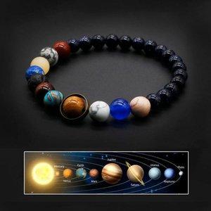 Charm Bracelets 2021 Universe Solar System Bracelet Women Natural Stone Eight Planets Men Friends Gift For Him Her MY8