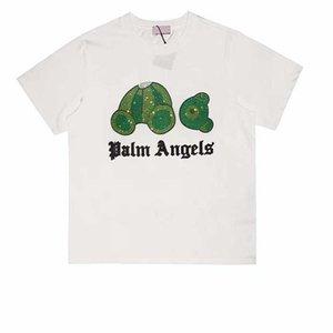 Mode Outlet 21ss Chrome Fengchao Marque Été Pa Coupe de cheveux Bear Perceuse à chaud Couleur rond Casual T-shirt Court T-shirt Homme Half Handle