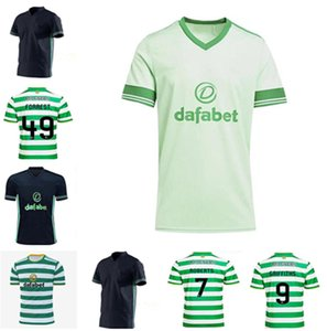 Promotion2021 Celtic Soccer Jersey Home Green # 22 Edouaro 20/21 Soccers Soccers Shirts # 19 Johnston # 9 Griffiths Men Foo