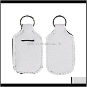 Other Drinkware Sublimation Blank Printing Colors Neoprene Liquid Soap 30Ml Hand Sanitizer Bottle Holder Keychain Wb3312 0L4Aw Ebqyj