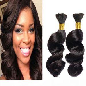 Brazilian Hair Loose Wave Human Hair Bulk For Braiding 100g Human Braiding Hair Loose Wave Curly