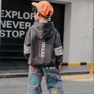 Solid Spring Autumn Boys Sweatshirts Jacket Coat KidsOutwear Teenager Tops Costume Children Clothes Cotton High Quality G0917