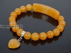 Natural Red Aventurine Gems Stone Heart Bar Round Beads Stretchy Bracelet Healing Reiki Chakra 5Strands   Pack Beaded, Strands