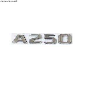 Flat Chrome ABS Rear Trunk Letters Badge Badges Emblem Sticker for Mercedes Benz A Class A250 W176