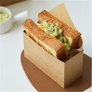Boîte à lunch emballé jetable Français Frites Burger Emballage Sandwich Papier à pâte à graisse Sortez des conteneurs