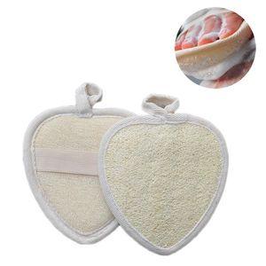 Natural Loofah Mat Bath Brush Sponge Body Exfoliating Back Rubbing Massage Towel Hanging Cleaning Brushes 3 Style HHF6304