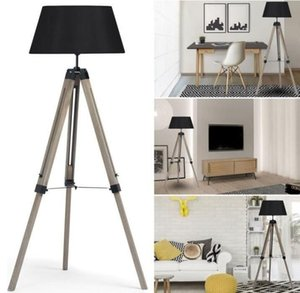 Floor Lamps Art Decor Lamp Simple Adjustable Living Room Bedroom Study Restaurant LED Wooden Tripod Standing With Lampshade