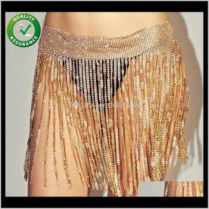 Designer Belts Women Luxury Metal Waistband Iced Out Chain Belt Crystal Rhinestone Gril Night Club Hip Hop Jewelry Girls Fashion Oozxx Tmjik