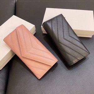 النساء الكافيار كالفسكين اثنين مطوية محفظة باريس مصمم أسود v موضوع محافظ جلد طبيعي امرأة حامل بطاقة حقيبة عملة المحافظ الفضي مصممين حقائب عالية الجودة