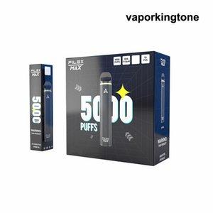 Original Flex Max Disable Vape E Cigarros Dispositivo 5000 Puffs 12ml Prefcilado Vaes Pen Stick System 13 Opções Vapor 100% Genuine VS Puff Bar