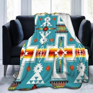 Blankets Flannel Blanket Winter Keep Warm Thick Bed Sheet Modern Printed Pattern Coral Fleece Office Nap Living Room Sofa Cover