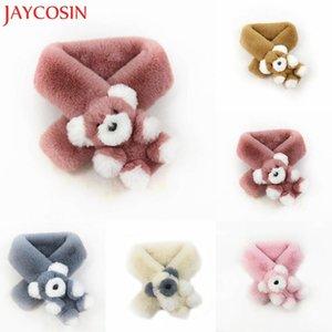 Scarves & Wraps JAYCOSIN Winter Warm Children Faux Fur Scarf Solid Color Animal Bear Unisex Dropship Nov.29
