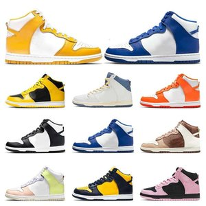 dunk high Casual Shoes men women Royal Black White Pure Platinum Syracuse Doraemon Spectrum Light Chocolate sports sneakers trainers xianghuaqiang