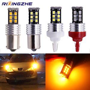 BAU15S py21w 1156 1157 BA15S BAY15D T20 7443 2835 15Smd Bulbs For Car Turn Signal Lights Brake lamp Amber No Hyper Flash