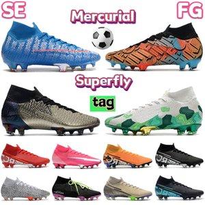 Moda Mercurial Superfly 7 Elite SE FG Futbol Futbol Ayakkabı Haki Elektro Yeşil Safari Mexico City Seçilmiş Üçlü Siyah Erkek Tasarımcı Çizmeler Sneakers