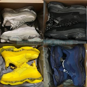 Designer Shoes Top Quality Triple S Mens Sneakers Chunky Heels Fashion Luxurys Brands Womens Dress Trainers Casual Boots Winter Outdoor Wedding Shoe