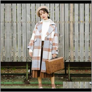 Wool Blends Outerwear & Coats Clothing Apparel Drop Delivery 2021 Casual Women Long Cashmer Fashion Womens Woolen Wide-Waisted Solid Single B