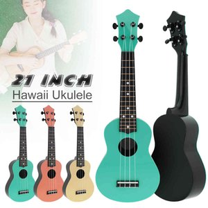 21 Inch Soprano Ukulele Colorful Acoustic 4 Strings Hawaii Guitar Instrument for Music Beginner and Children 3 Colors Optional