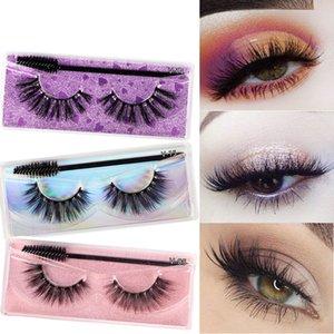 Eyelashes Natural Mink Eyelash Wholesale Makeup False Lashes 15 styles with brushes good quality epacket