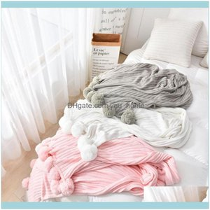 Blankets Textiles Home & Gardell Knit Blanket Cotton Shawl Po Props Sofa Air Conditioning High Quality 3 Size1 Drop Delivery 2021 Efz52