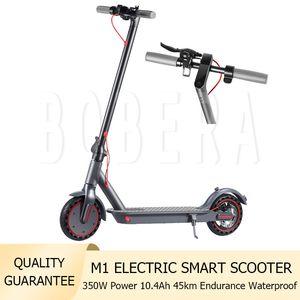 2021 Electric Smart Scooter Portable Foldable 10.4AH Battery 350W Power 45KM Endurance E-bike with Bluetooth APP