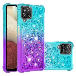 Luxury Bling Quicksand Cases TPU Liquid Gradient Glitter Cover For Samsung A02S A02 A12 A32 4G A42 A52 A72 LG Stylo 7 5G MOTO G Power Play RedMi Note 9 XiaoMi 10T POXO M3