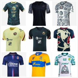 S-3XL América 2021 2022 México MX Liga Clube Away Terceiro Jerseys de Futebol Amarelo 20 21 Club 3º Giovani Castillo Home Camisa Futebol Futbol Uniforme Custom