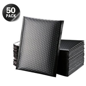Storage Bags 50Pcs Bubble Mailers Black Padded Envelopes Lined Poly Mailer Self Seal For Gifting Mailing Household