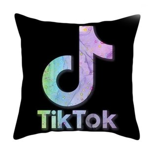 New Tik Tok Voice Jitter Tiktok Cushion Pattern Pillow Polyester Cushion Sofa Bed Throw Pillows Without Pillow Inner G4YWZ0V