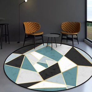 Carpets Marble Pattern Geometric Circle Rug Home Carpet Mats Floor Mat In The Living Room Bedroom Decor