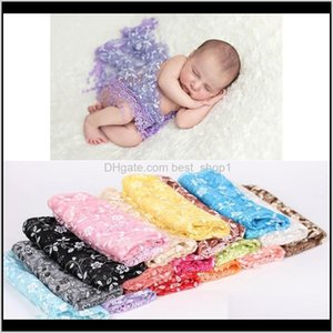 Lace Baby Blanket Floral Infant Girls Wrap Towel Born Embroidery Tassel Pography Quilt Po Props 17 Colors 2Phlu Rxutp