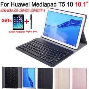Detach Keyboard Case for Huawei Mediapad T5 10 10.1 AGS2-L09 AGS2-W09 AGS2-L03 Cover Case Keyboard for Huawei T5 10.1 +Film+Pen