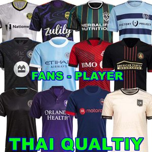 المشجعين لاعب نسخة MLS Soccer Jerseys 21 22 LAFC Inter Miami Atlanta La Galaxy York Orlando City Montreal Columbus Jersey سياتل Sounders Kansas 2021 Toronto FC Top